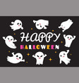 cute ghosts flat ghost character happy vector image