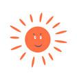 cute sun cartoon character smiling clip art vector image vector image