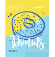donut poster with cool design stock vector image vector image