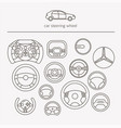 equipment for transport driving logo set helmet vector image vector image