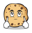 eye roll sweet cookies character cartoon vector image vector image
