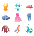 Fashion Clothes Icons Set vector image vector image