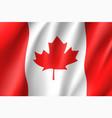 flag canada realistic icon vector image vector image
