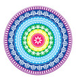 folk round pattern hippie colorful mandala boho vector image vector image