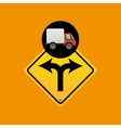 fork traffic sign concept vector image vector image