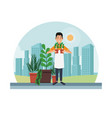 gardening shopping at city vector image