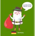 germany santa claus and text vector image