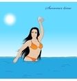 Girl in water vector image vector image