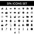 glyph spa icon set on white background