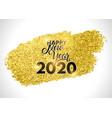 gold glitter streak happy new year design vector image vector image