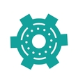 green gear wheel engine cog icon vector image