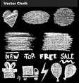 hand drawn doodle sale lettering on chalkboard vector image vector image
