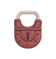 hanging closed iron colored padlock with locked vector image