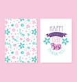 happy mothers day thank you card template spring vector image
