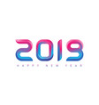 happy new year greeting card with gradients new vector image vector image