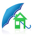 house with umbrella concept vector image