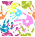 human hand on a white background vector image