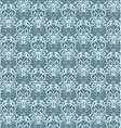 Intricate Silver and Blue Luxury Seamless Pattern vector image vector image