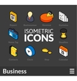 Isometric outline icons set 9 vector image