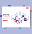Landing page template yoga and meditation