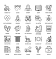 line icon of senior and elderly care vector image