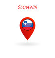 location icon for slovenia flag vector image vector image