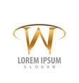 luxury w letter logo concept design symbol vector image vector image