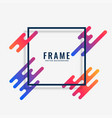 modern colorful frame design with text space vector image vector image