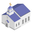monastery church icon isometric style vector image vector image
