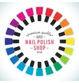 Nail polish women accessories set in a palette vector image