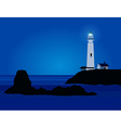 Nature Landscape with lighthouse vector image vector image
