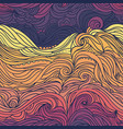 ocean waves purple and orange vector image vector image