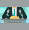 official news release man making speech vector image vector image