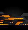 orange black technology geometric abstract vector image vector image