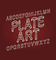 Plate art typeface silver golden font isolated