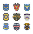 Police badges security signs and symbols