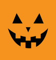pumpkin smiling face emotion big triangle eyes vector image vector image
