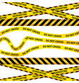 Quarantine tape isolated warning sign
