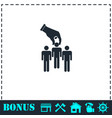 recruitment icon flat vector image