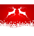 Reindeer with stars snowflakes vector image vector image