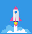 rocket - startup launch symbol vector image vector image