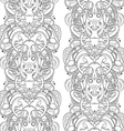 Seamless Monochrome Abstract Pattern vector image