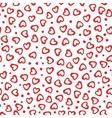 Seamless pattern hearts dots vector image vector image