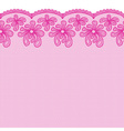 Seamless pink lacy border vector image vector image