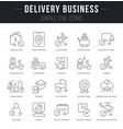 set line icons delivery business vector image vector image