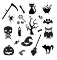 Set of Halloween elements Collection of icon for vector image