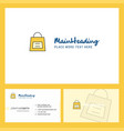 shopping bag logo design with tagline front and vector image vector image