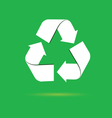 sign for recycling on a green vector image