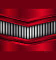 silver and red metal background vector image