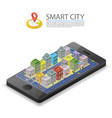 smart city isometric app device mark object on a vector image vector image